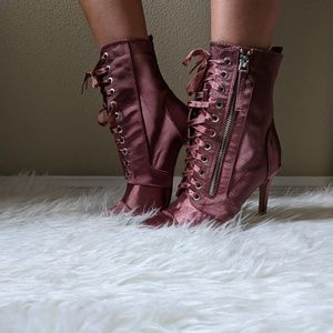 Shoes - Lace Up Ankle Booties